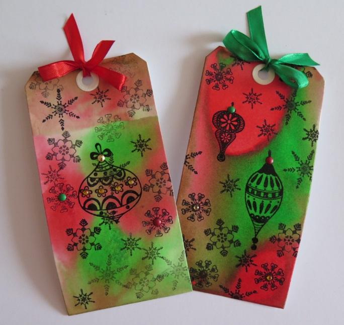 7. Vánoční visačka – a inkousty ve spreji – kuchařka