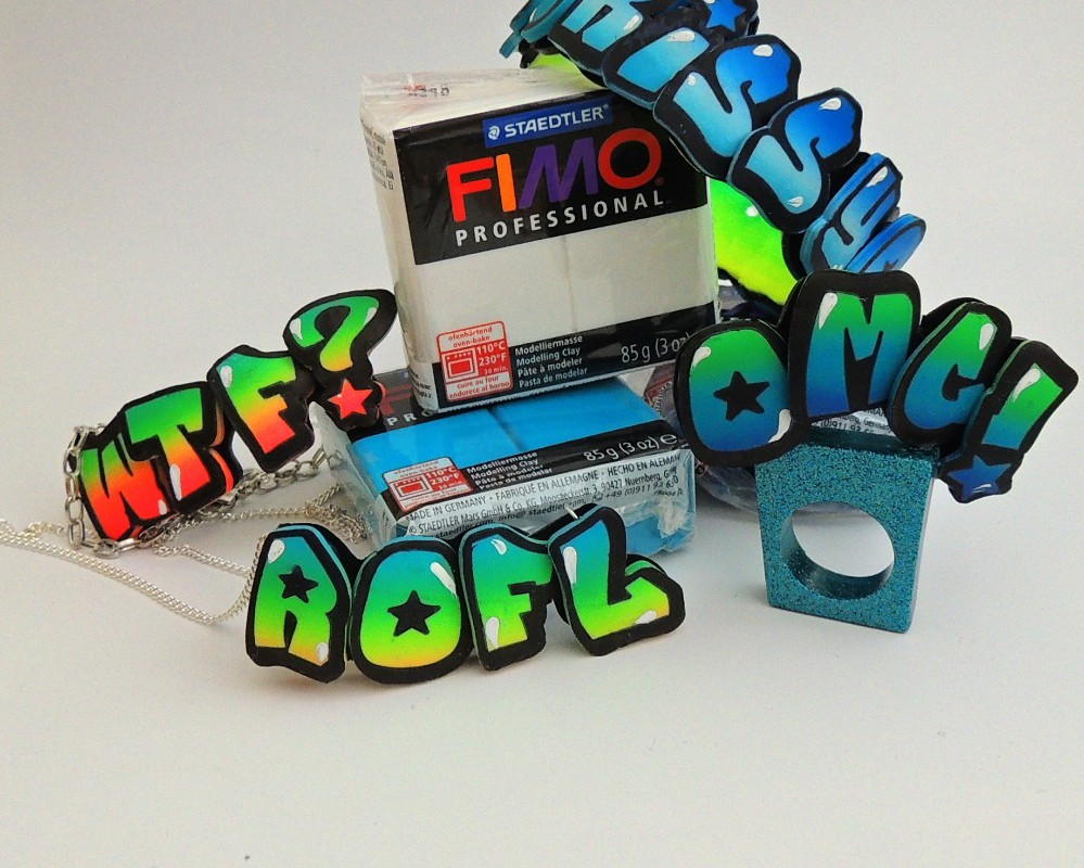 Graffiti náramky z Fima od Fimo Kakou