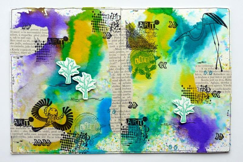 2.díl Art journal a inkoustové spreje