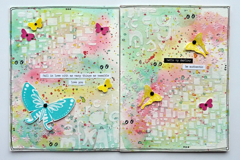 3.díl Art journal a strukturovací pasty