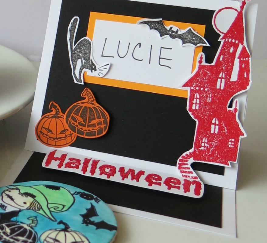Halloweenské jmenovky na stůl