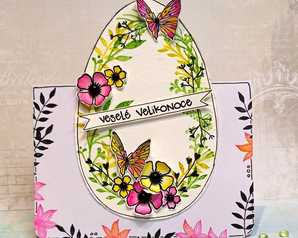 Velikonoční vejce jako malované