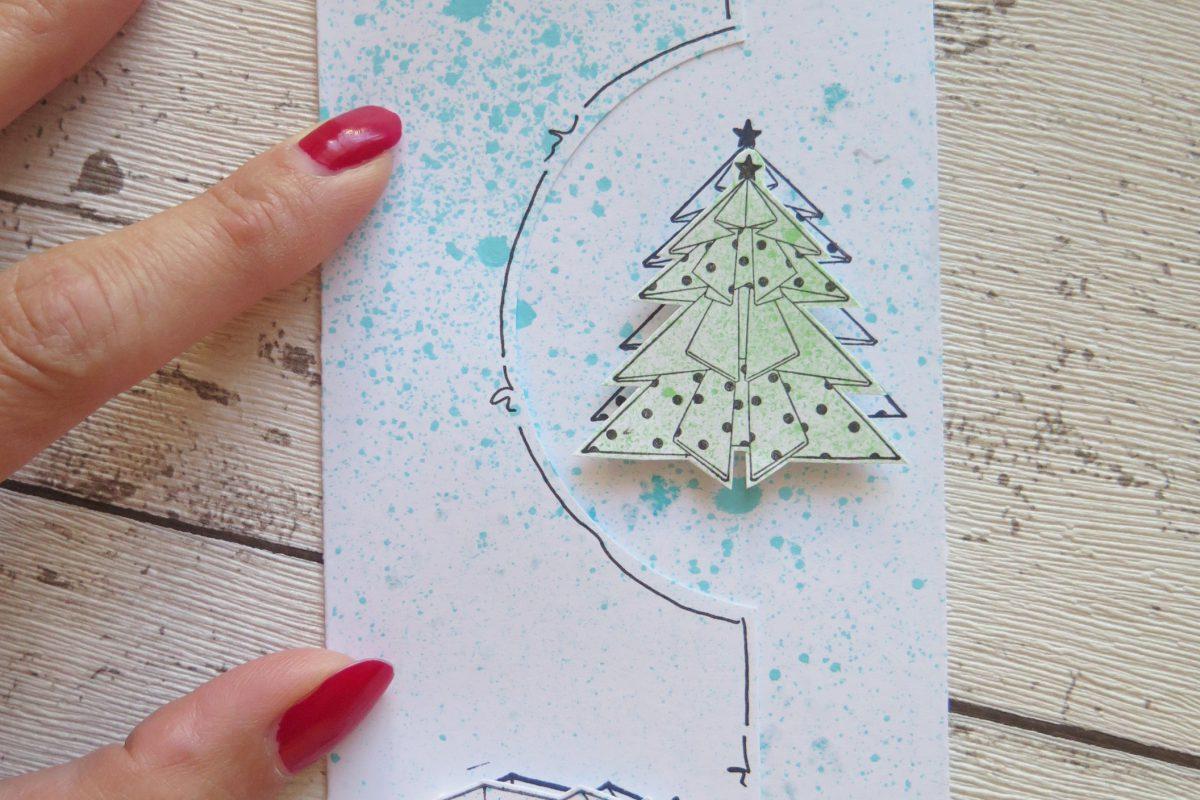 Vánoční přání ve stylu origami