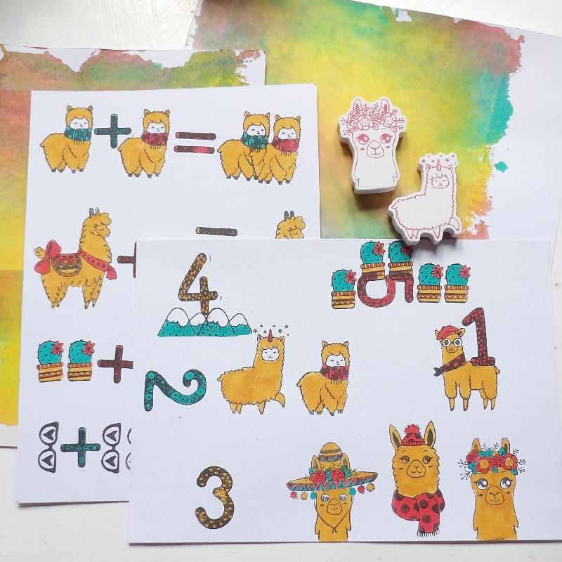 Jedna lama plus jedna lama – omalovánky