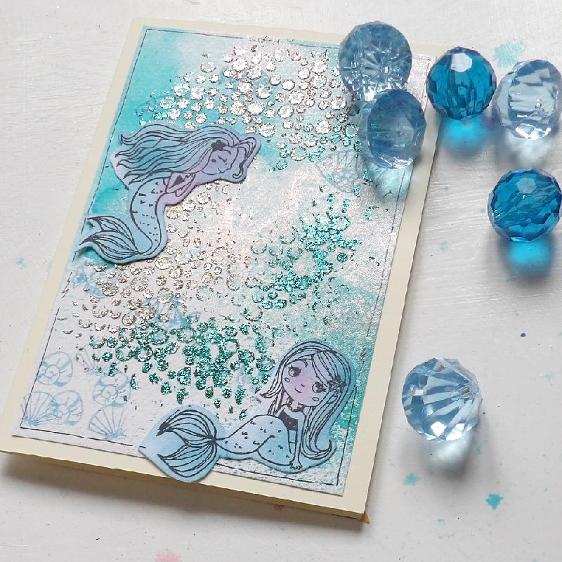 Malá mořská víla – přání a omalovánky