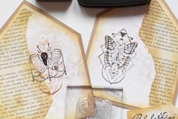 Tištění motýlů inkoustem Stazon