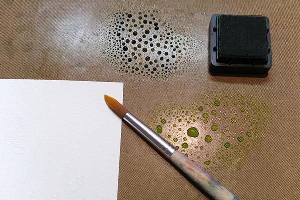 Rozmíchání akvarelových inkoustů